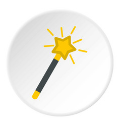 Magic wand icon circle vector