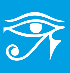 Eye of horus egypt deity icon white vector