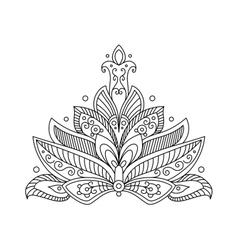 Ornate dainty persian paisley floral motif vector