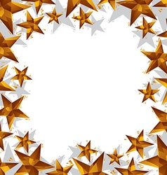 Stars border made in contemporary geometric style vector
