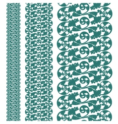 set seampless pattern lace vector image