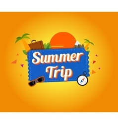 Summer trip logo design vector