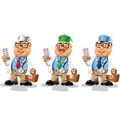 doctor cartoon vector image