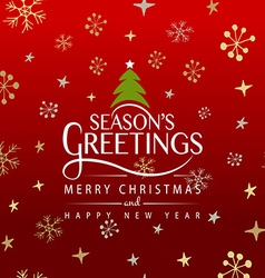 Hand sketched Seasons Greetings logotype badge and vector image