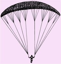 Paragliding parachute extreme sport vector