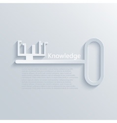 Modern light key to knowledge background vector