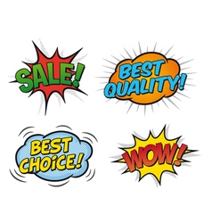 Comic speech bubbles 03b vector