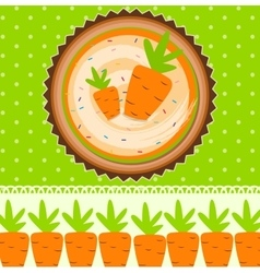 Carrot cake background vector