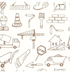 Seamless pattern with doodle sketch architecture vector