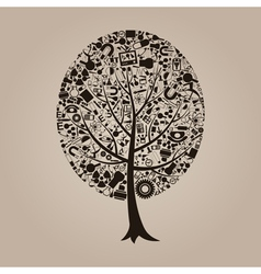 Tree a science vector image