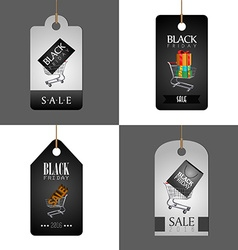 Black friday labels vector image