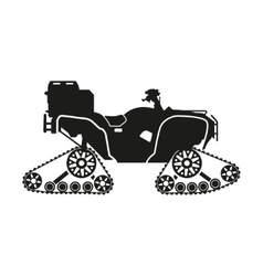 Black silhouette of the all-terrain vehicle vector