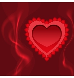 Blazing heart fire and love vector