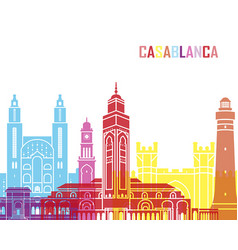 Casablanca skyline pop vector