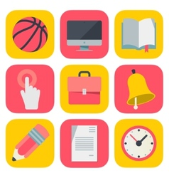 Clean and simple education icons for mobile OS vector image vector image
