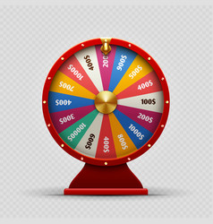 colorful realistic casino fortune wheel on vector image