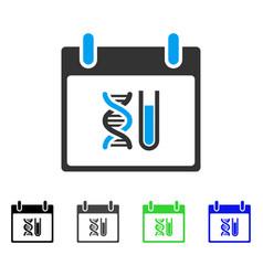 Dna analysis calendar day flat icon vector