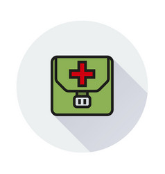 first aid kit icon on white background vector image vector image