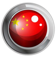 Flag of china in round frame vector