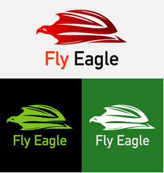 flying eagle logo template vector image vector image