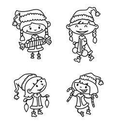 girls set vector image vector image