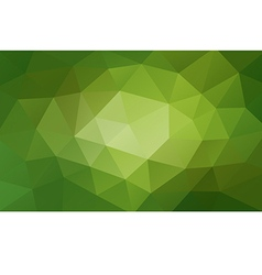 Green abstract geometric background rumpled vector