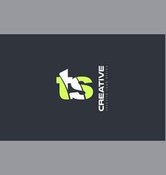 green letter ts t s combination logo icon company vector image