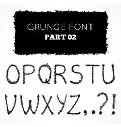 Grunge hand written alphabet vector image vector image