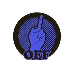 Hand with middle finger icon vector