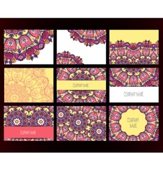 Mandalas business card vector image