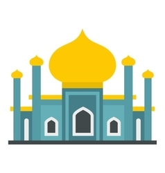 Muslim mosque icon flat style vector