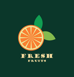 orange fruit vector image vector image