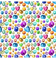 Pattern with precious vector image vector image