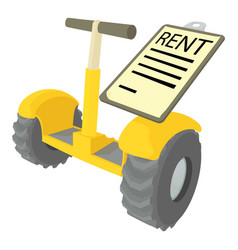 Rent segway icon cartoon style vector