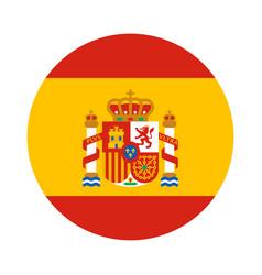 Round shape flag of spain vector