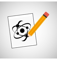 Science laboratory atom drawing graphic vector