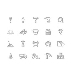 set of construction and repair line icons vector image vector image