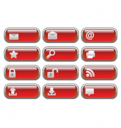 shiny internet buttons set2 vector image