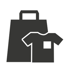 shopping bag with commercial isolated icon vector image vector image
