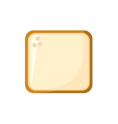 Slice bread food bakery ingredient vector