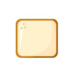 slice bread food bakery ingredient vector image