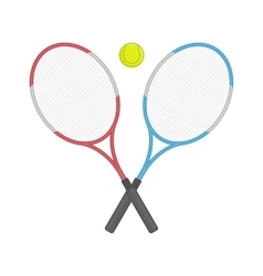 Two crossed tennis racket and ball vector image vector image