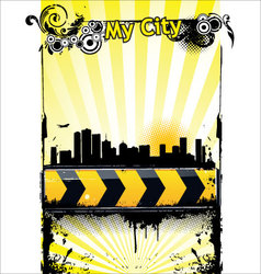urban banner vector image