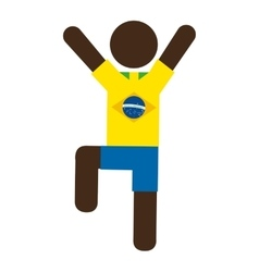 Figure silhouette man brazilian vector