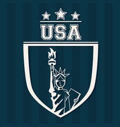Statue of liberty united states usa patriot vector
