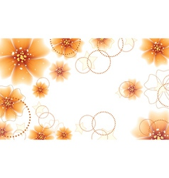 Orange flowers design vector