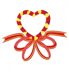 love ribbon vector image