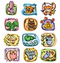 Horoscope characters vector
