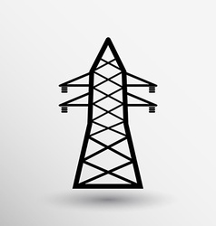 High-voltage line icon button logo symbol concept vector