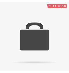 Luggage simple flat icon vector